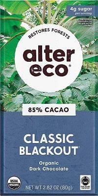 Alter Eco Chocolate Bars Pure Dark Cocoa