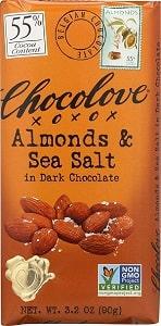 Chocolove, Almonds, and Sea Salt in Dark Chocolate
