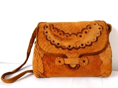 Mashroom leather handbag